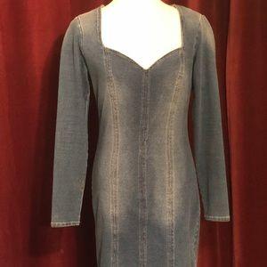 BEBE Blue Denim Dress